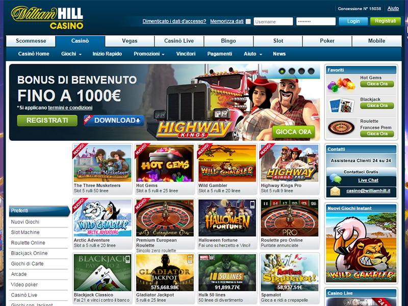 william hill casino online gratis